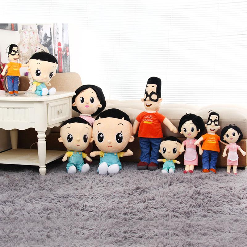 正版卡通玩具大头儿子小头爸爸一家三口毛绒公仔儿童图片